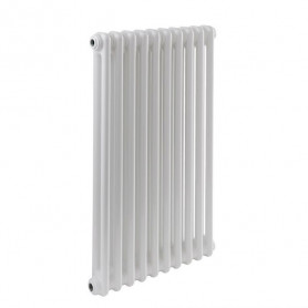 Cordivari Ardesia 2 row aluminum radiator, H 676, 4 sections, white