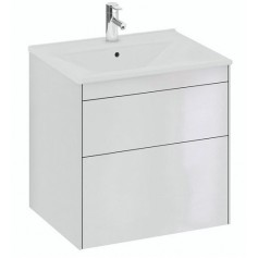 IFO Sense Slim bathroom vanity unit with washbasin SU 60 HV2, glosy white, 47436