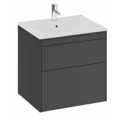 IFO Sense Slim bathroom vanity unit with washbasin SU 60 G2, graphite gray, 47437