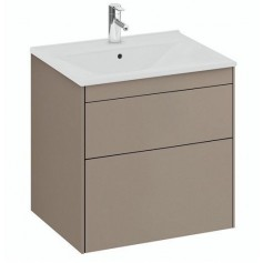 IFO Sense Slim bathroom vanity unit with washbasin SU 60 M2, mole, 47438