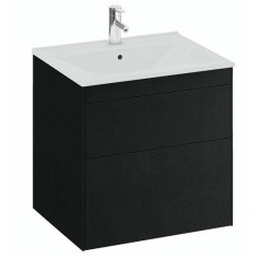 IFO Sense Slim bathroom vanity unit with washbasin SU 60 S2, black oak, 47439