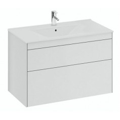 IFO Sense Slim bathroom vanity unit with washbasin SU 90 V2, matte white, 47445