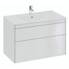 IFO Sense Slim bathroom vanity unit with washbasin SU 90 HV2, glosy white, 47446