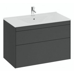 IFO Sense Slim bathroom vanity unit with washbasin SU 90 G2, graphite gray, 47447