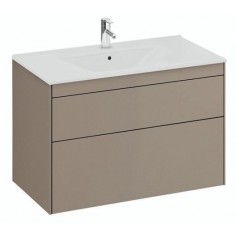 IFO Sense Slim bathroom vanity unit SU 90 M2, mole, 47448