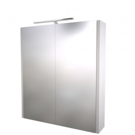 Raguvos Baldai Serena bathroom mirror cabinet 60cm with LED lighting 1402311, glosy white