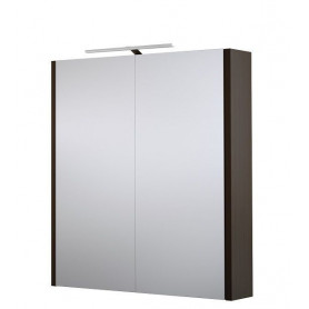 Raguvos Baldai Serena bathroom mirror cabinet 60cm with LED lighting 1402301, black oak