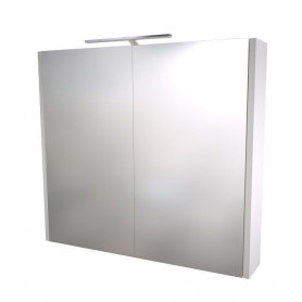 Raguvos Baldai Serena bathroom mirror cabinet 75cm with LED lighting 1402411, glosy white