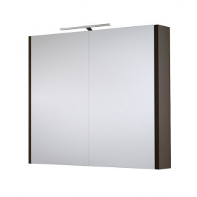 Raguvos Baldai Serena bathroom mirror cabinet 75cm with LED lighting 1402401, black oak