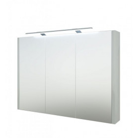 Raguvos Baldai Serena bathroom mirror cabinet 90cm with LED lighting 1402611, glosy white