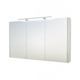 Raguvos Baldai Serena bathroom mirror cabinet 110cm with LED lighting 1402811, glosy white