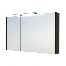 Raguvos Baldai Serena bathroom mirror cabinet 110cm with LED lighting 1402801, black oak