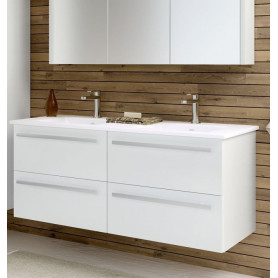 Raguvos Baldai Serena bathroom vanity unit with washbasin 121cm, glosy white 14113811
