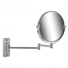 Geesa 911076 shaving mirror, double, wall mounted, regular and 5x magnifying, ø 200mm