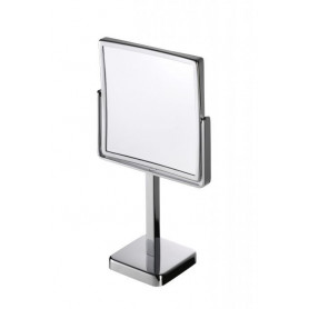 Geesa 911082 shaving mirror, surface mounted, regular and 3x magnifying, 190x190mm