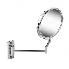 Geesa 911086 shaving mirror, double, wall mounted, regular and 3x magnifying, ø 200mm