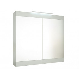 Raguvos Baldai Serena Retro bathroom mirror cabinet 75 cm with ligting, glosy white 1302411