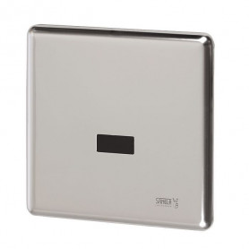Sanela SLP 02KZ infrared urinal flush button with mounting box, integrated power supply, 230V AC
