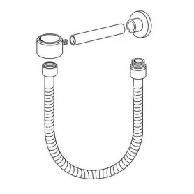 Gustavsberg G1 and G2 holder connection with flexible inlet GB41638464