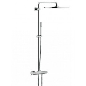 Grohe Rainshower 400 shower system with thermostat, with hand shower, Sena Stick, 27174001