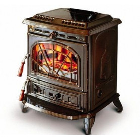 Waterford cast iron firewood heating oven ERIN, without water heater, matte
