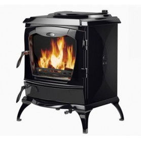 Waterford cast iron firewood heating oven LISMORE, with water heater, enamel