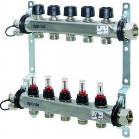 Uponor Smart S manifold with flow meters FM, 2x 1086538