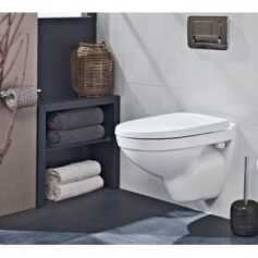 Gustavsberg Nautic 5530 C+ WC hanging toilet bowl, with soft close seat 1155300R100+9M26S101