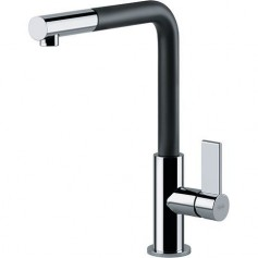 Franke 115.0373.945 Neptune EVO kitchen mixer, with pull-out spout, black/ chrome