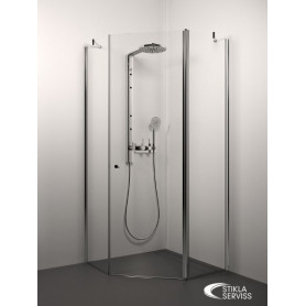 Stikla Serviss pentagon shower cabin Simona 1000x1000