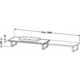 Duravit PuraVida Console, for back-to-wall PV071C 550 mm