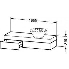 Duravit Fogo Console with drawer FO8373 1000 x 360 mm