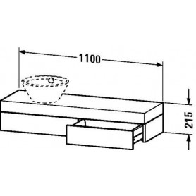 Duravit Fogo Console with drawer FO8374 1100 x 360 mm