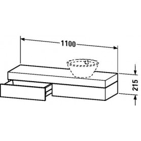 Duravit Fogo Console with drawer FO8375 1100 x 360 mm