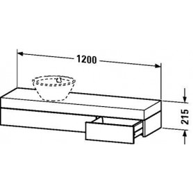 Duravit Fogo Console with drawer FO8377 1200 x 360 mm