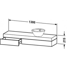 Duravit Fogo Console with drawer FO8381 1300 x 360 mm