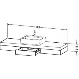 Duravit Fogo Console including drawers FO8531 1800 x 550 mm