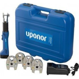 Uponor S-Press battery pipe press tool Mini2 16/20/25/32, with sleeves, 1083586