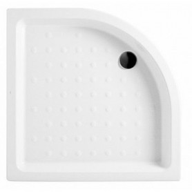 Jika Ravenna 80x80 round shower tray, ceramic, white
