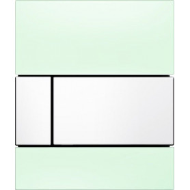 TECEsquare build in frame urinal button, green glass, white buttons 9242803
