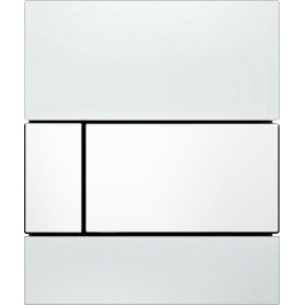 TECEsquare build in frame urinal button, white glass, white buttons 9242800