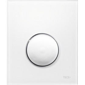 TЕСЕloop build in frame urinal button, plastic, white glass, chrome buttons 9242627