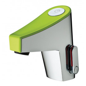 SENSITIVE MIXER PRESTO NEW TOUCH GREEN -BATTERY- WITH STRAIGHT STOP VALVE
