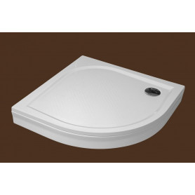 SPN round shower tray P708K 800x800 with panel and legs R550