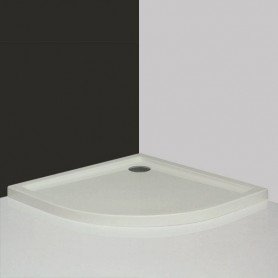Roltechnik round shower tray Flat Round 800, white
