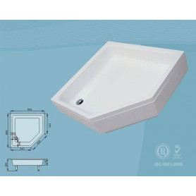SPN prism shower tray P705 895x895 with panel and legs