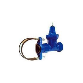 Industrial vertical valve with saddle for metal pipes 1 1/4 F x Dn100