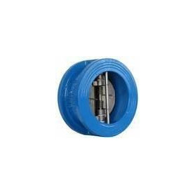 Mid-flange industrial non-return valve C Dn100 Pn16, with spring