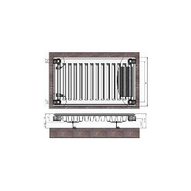 Termolux steel radiator with side connection 11x400x2000