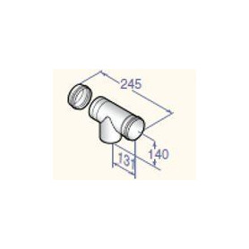 DeDietrich stovepipe revision T-piece D80, DY163